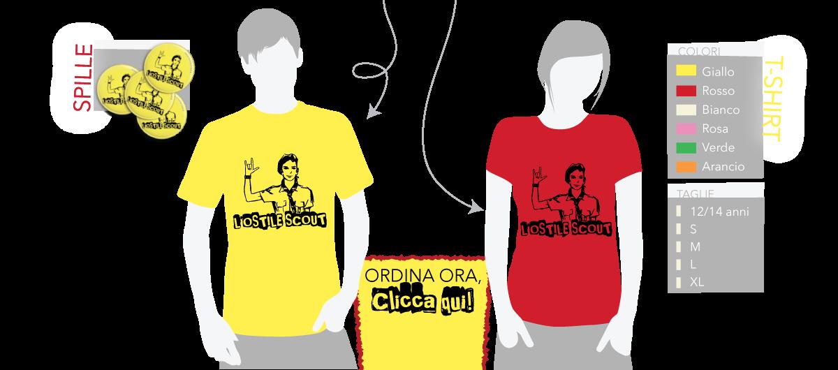 L'Ostile Scout t-shirt